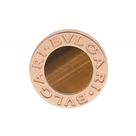 BULGARI BULGARI CLASSIC PINK GOLD EARRING WITH TIGER'S EYE