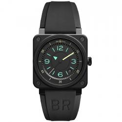 BEL & ROSS BR03-92 BI-COMPASS CERAMIC BLACK MATTE 42MM