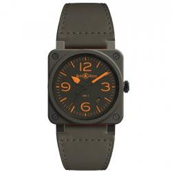 BELL & ROSS BR03-92 MA-1 CERAMIC KHAKI MATTE 42MM