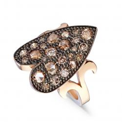 CERVERA ARABESQUE RING PINK GOLD DIAMONDS