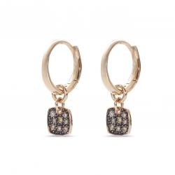 CERVERA TAGS EARRINGS BROWN DIAMONDS