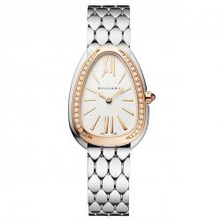 BULGARI SERPENTI SEDUTTORI 33MM PINK GOLD BEZEL DIAMONDS