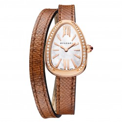 BULGARI SERPENTI SKIN 27MM PINK GOLD DIAMONDS
