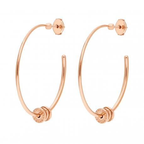 BULGARI BZERO1 PINK GOLD HOOP EARRINGS LARGE