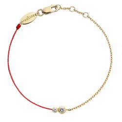 RED LINE INFINITE DOUBLE BRACELET ROUGE DIAMANTS