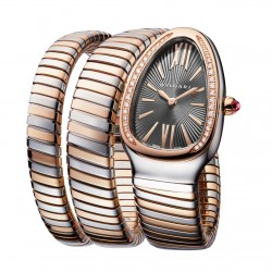 BULGARI SERPENTI TUBOGAS 35MM PINK GOLD DIAMONDS