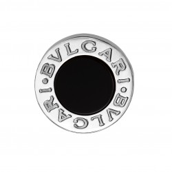 BULGARI BULGARI WHITE GOLD-ONYX SINGLE EARRING
