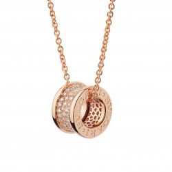 BULGARI BZERO1 PINK GOLD DIAMONDS PENDANT