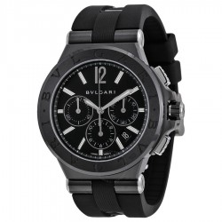 BULGARI DIAGONO 42MM BLACK CHRONOGRAPH