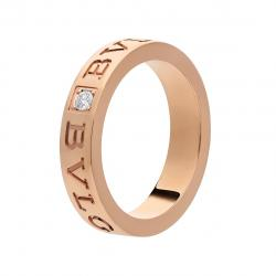 BULGARI BULGARI RING PINK GOLD DIAMOND