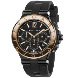 BULGARI  DIAGONO 42MM PINK GOLD CHRONOGRAPH