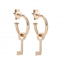 LA MARGINEDA MEDIEVAL JEWELS PINK GOLD EARRINGS