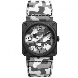 BELL & ROSS BR03-92  WHITE CAMO 42MM LTD EDITION 999 PCS
