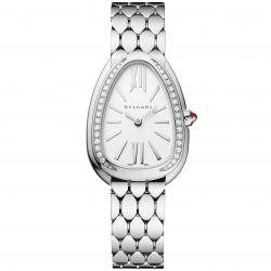 BULGARI SERPENTI SEDUTTORI 33MM STEEL DIAMONDS