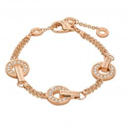 BULGARI BULGARI PINK GOLD BRACELET DIAMONDS