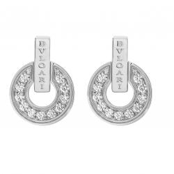 BULGARI BULGARI WHITE GOLD EARRINGS DIAMONDS
