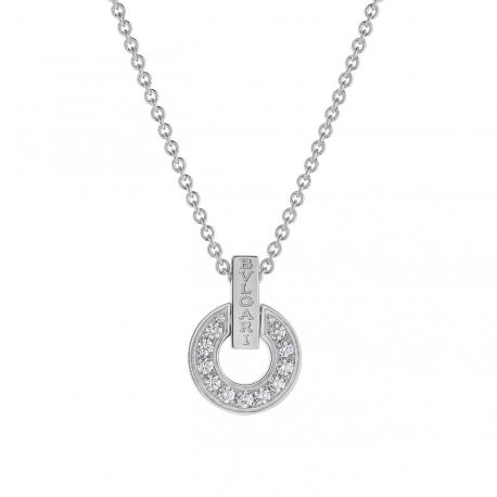 BULGARI BULGARI WHITE GOLD NECKLACE AND DIAMONDS