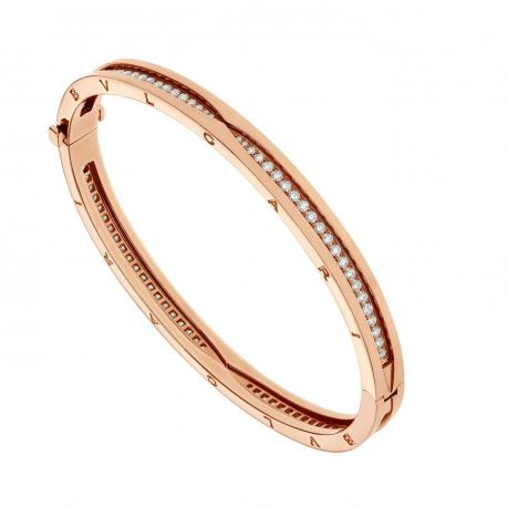 BULGARI BZERO1 PINK GOLD BRACELET DIAMONDS
