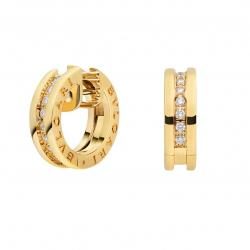 BULGARI BZERO1 YELLOW GOLD EARRINGS DIAMONDS