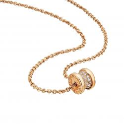 BULGARI BZERO1 YELLOW GOLD NECKLACE DIAMONDS