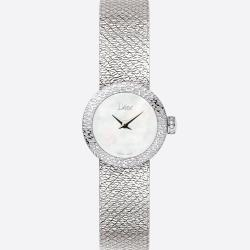 D DE DIOR SATINE 19MM MOTHER OF PEARL DIAMONDS