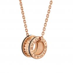 BULGARI BZERO1 ROCK PINK GOLD BLACK CERAMIC PENDANT