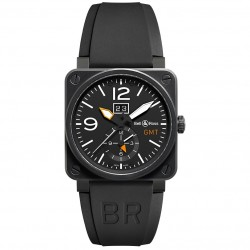 BELL & ROSS AVIATION BR03-51 GMT CARBON 42MM