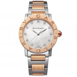 BULGARI BULGARI 33MM PINK GOLD DIAMONDS
