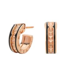 BULGARI BZERO1 ROCK PINK GOLD EARRINGS CERAMIC