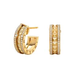 BULGARI BZERO1 ROCK YELLOW GOLD EARRINGS DIAMONDS