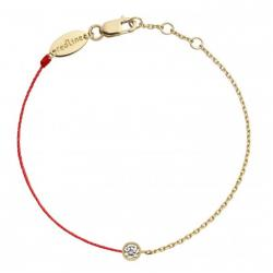 RED LINE ILLUSION DOUBLE BRACELET ROUGE OR JAUNE DIAMANTS