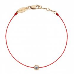 RED LINE PURE BRACELET ROUGE OR ROSE DIAMANT