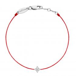 RED LINE SHINY BRACELET ROUGE OR BLANC DIAMANT