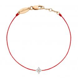 RED LINE SHINY BRACELET ROUGE OR ROSE DIAMANT