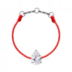 RED LINE SON ALTESSE BAGUE ROUGE OR BLANC DIAMANTS