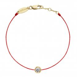 RED LINE SO PURE BRACELET ROUGE OR JAUNE DIAMANT