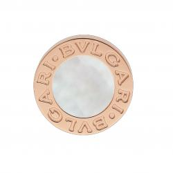 BULGARI BULGARI PINK GOLD SINGLE EARRING MOTHER OF PEARL