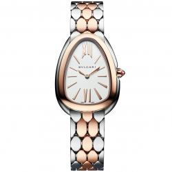 BULGARI SERPENTI SEDUTTORI 33MM PINK GOLD/STEEL DIAMONDS