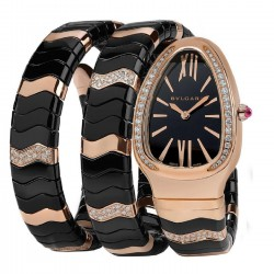 BULGARI SERPENTI 35MM PINK GOLD DIAMONDS