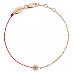 RED LINE PURE DOUBLE BRACELET OR ROSE DIAMANT