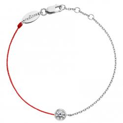 RED LINE SO PURE DOUBLE BRACELET OR BLANC DIAMANT
