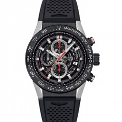 TAG HEUER CARRERA CALIBRE HEUER 01 45MM SKELETON RED