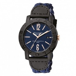 BULGARI BULGARI CARBONGOLD 40MM BLUE