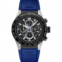 TAG HEUER CARRERA CALIBRE HEUER 01 45MM SKELETON BLUE