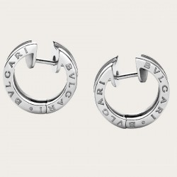 BULGARI BZERO1 WHITE GOLD EARRINGS