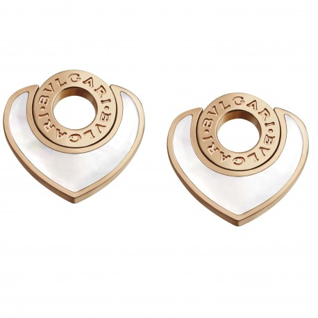 BULGARI BULGARI CUORE PINK GOLD EARRINGS