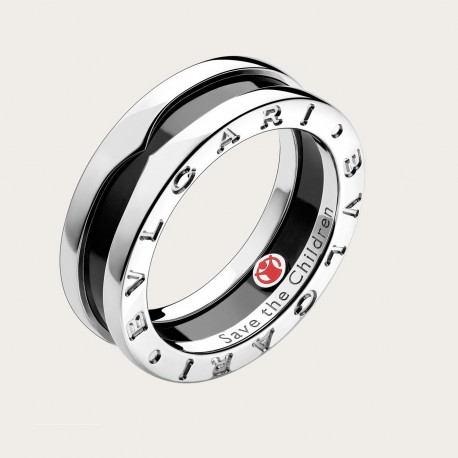BULGARI BZERO1 SAVE THE CHIILDREN SILVER RING