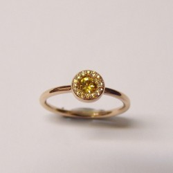 CERVERA ALONE  YELLOW SAPPHIRE RING