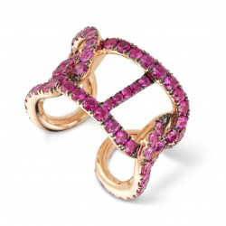CERVERA GOURMETTE PINK SAPPHIRE RING