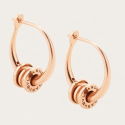 BULGARI BZERO1 PINK GOLD HOOP EARRINGS